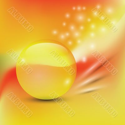 colorful background  with  yellow sphere