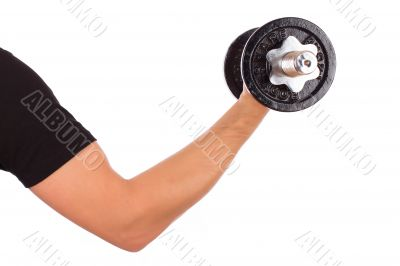 Arm and dumbbell