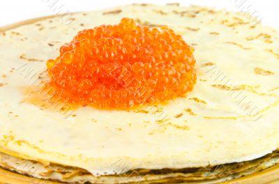 Pancakes and caviar