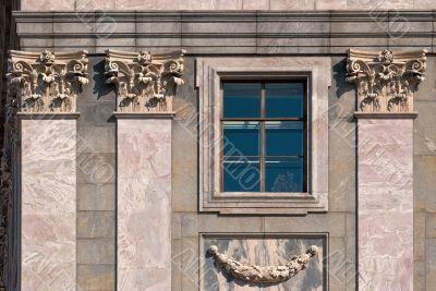 Windows with columns.