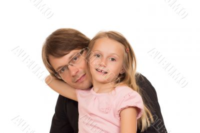 Portrait of father and her daughter