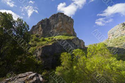 River Dulce Cliffs in Guadalajara, Spain