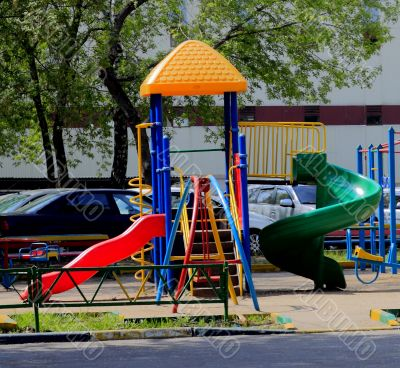 city children's Playground in the Park
