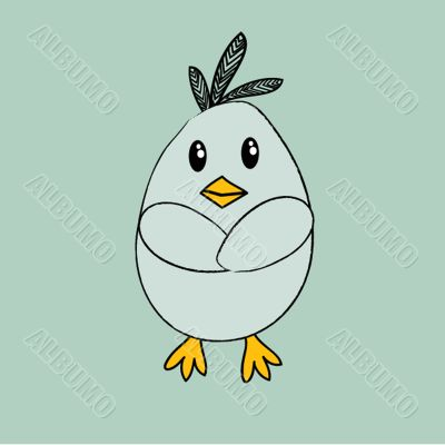 illustration of Cartoon Cock