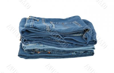 blue jeans fashion isolated white background