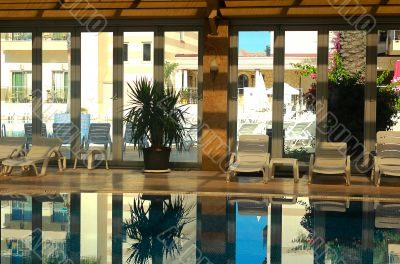 Indoor pool in the Spa hotel