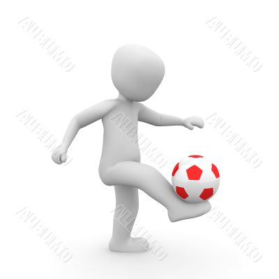ball juggling red