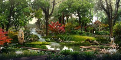 3D landscape visualization