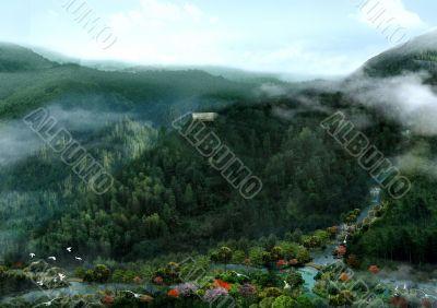 3D Rendering Landscape