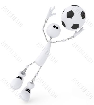 3d person football goalkeeper.