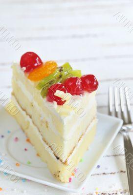 piece of delicious cake