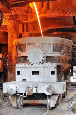 transportation of hot steel