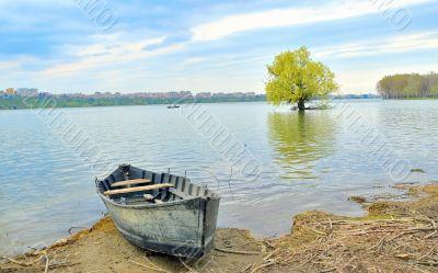 boat on shore of danube