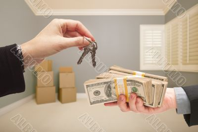 Handing Over Cash For House Keys