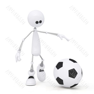 3d person football player.