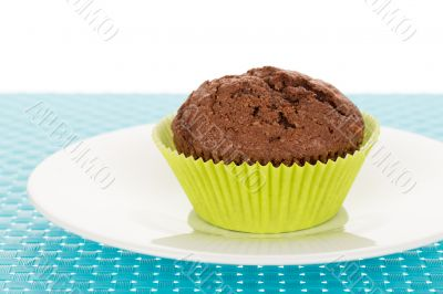 Muffin on plate