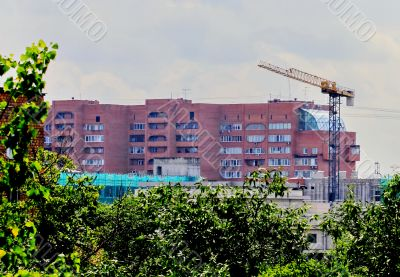 construction of the residential area