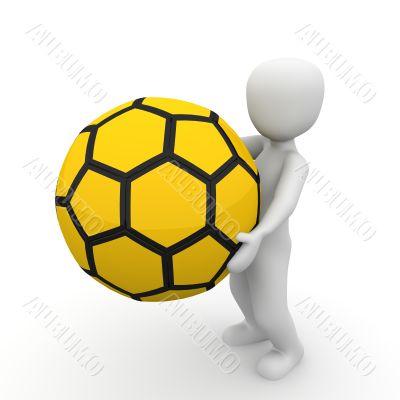holding ball