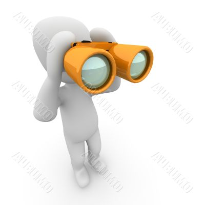 Binoculars orange