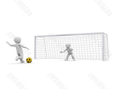 Goal shoot yellow