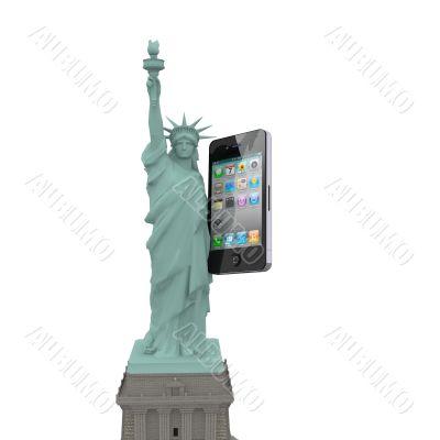 statue of liberty phone 2