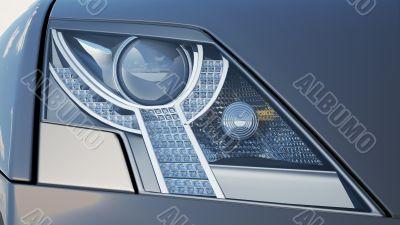 Headlights close-up