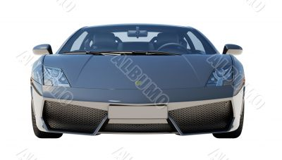 Supercar isolated on a light background