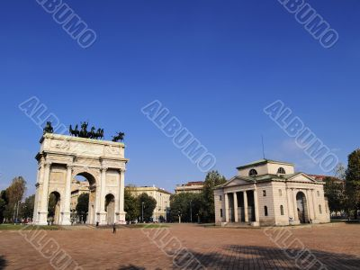 The Arch of Peace in Milan