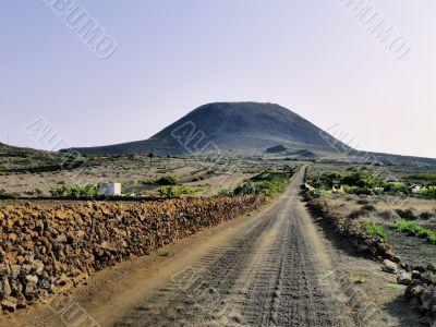 Corona Volcano on Lanzarote