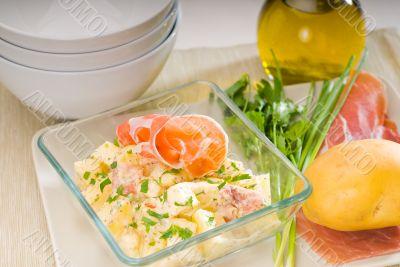 parma ham and potato salad