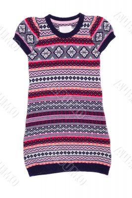 knitted tunic with scandinavian pattern