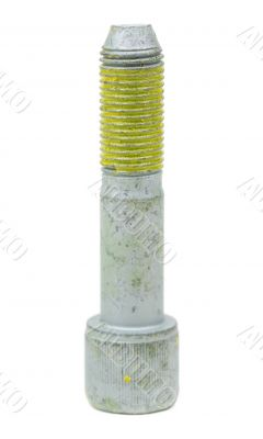 One bolt threaded buttered yellow glue