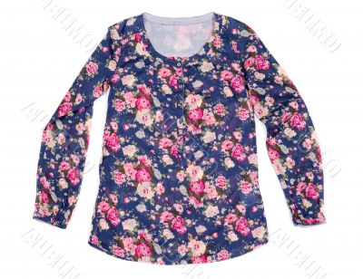 ladies blouse with floral print