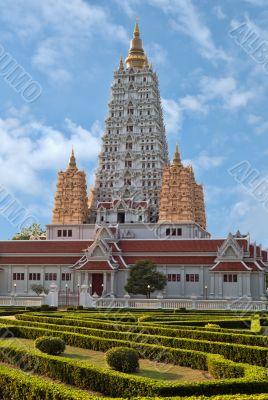 Vietnamese style temple in Thailand. Temple complex Wat Yan