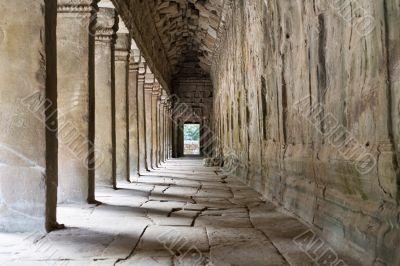 Outer Corridor of Angkor Wat, Cambodia