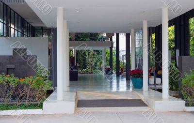 tropical hotel lobby on the island, Thailand