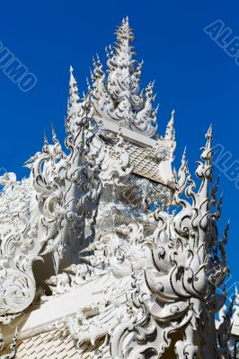 roof of the building at the White Temple in Chiang Mai