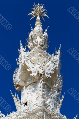 Exotic roof of the White Temple in Chiang Mai