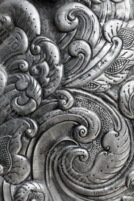 engraving on silver, background