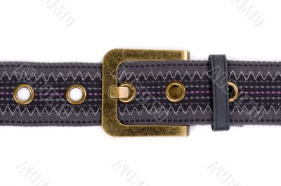 fashion fabric belt with metal buckle