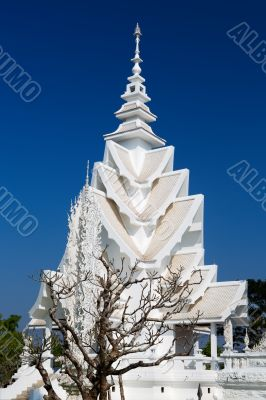 spire of the White Temple in Chiang Mai, Thailand