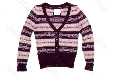 isolated woolen sweater on white