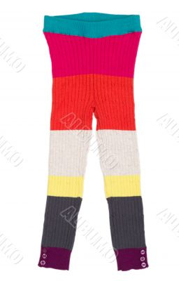 Children`s knitted trousers