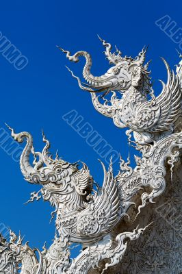 Close up detail of the White Temple Chiang Rai