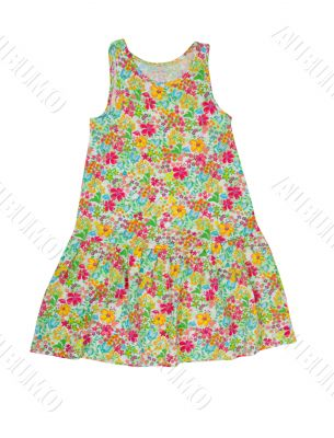 baby dress with floral pattern