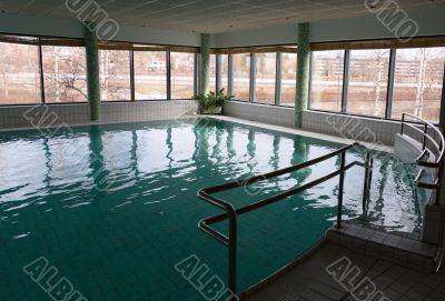 swimming pool in the hotel