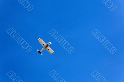 small airplane in day
