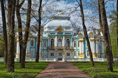 Pavilion in Catherine`s park in Tsarskoe Selo near Saint Petersb
