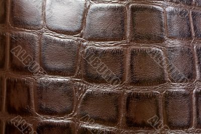 Natural brown leather background closeup