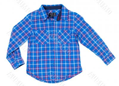 Children plaid shirt